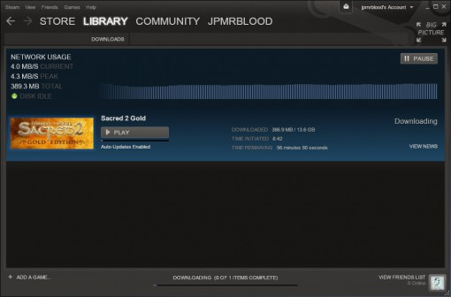Downloading Sacred 2 Gold Edition
