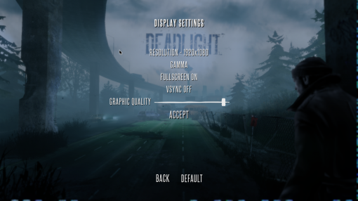 Deadlight's Display Settings