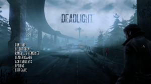 Deadlight opening title, front page.