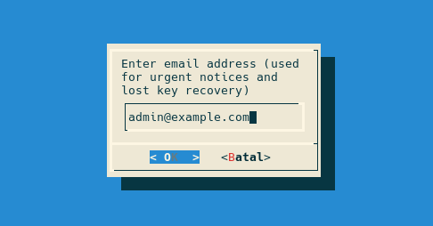 Enter our email address