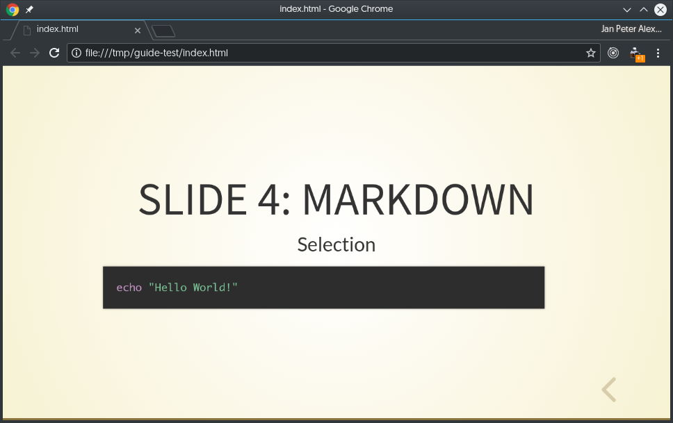 Created with Markdown